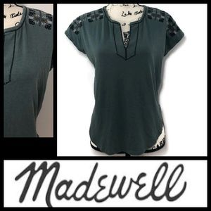 Madewell Embroidered T-Shirt Top